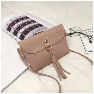 Pink Mini Messenger Tassel Bag